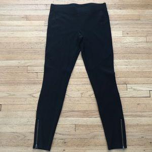 Express Zipper Black Leggings